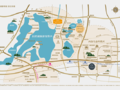 岸芷汀兰花园交通图