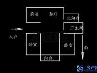 独家委拖 二中学区可用 3房 有车库 多层3楼 香樟园
