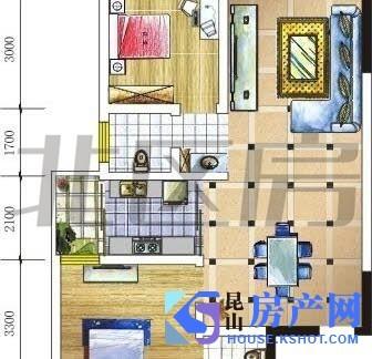 自由都市 精装两房 干净清爽 舒适温馨 商圈成熟 交通方便 看房方便