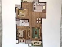 出售华府庄园3室2厅1卫92.4平米128万住宅
