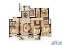 户型图实发 小区在售蕞低总价4房 江南境秀 143平 4房3卫 有钥匙 纯毛坯