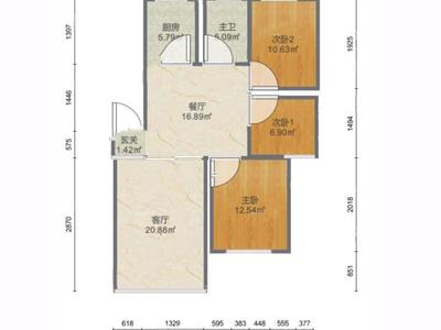 满庭芳花园 95平 精装修 满五唯一住房 南北通透 带车库