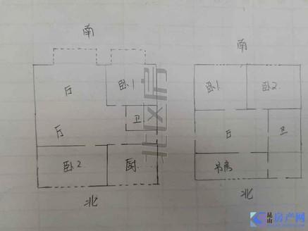 225乘0.3 就是首付 带25平车库 3四楼复式 红木家具 城北中小学都可用