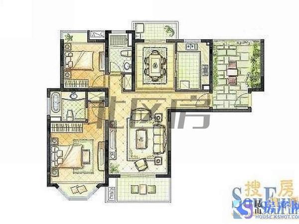 开发区高中 航站楼旁 百米楼间距 精装大三房两卫 拎包入住!