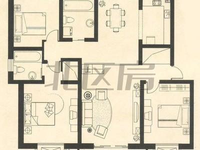 阿里山花园 精装 大三房 家具齐全 拎包入住 租金 2600