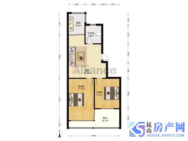 琼花新村学区好房 低楼层 无抵押 2室1厅1卫精装修