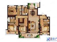 城西江南境秀花园洋房,170平4房,户型南边通透,学区在,有钥匙随时好看房