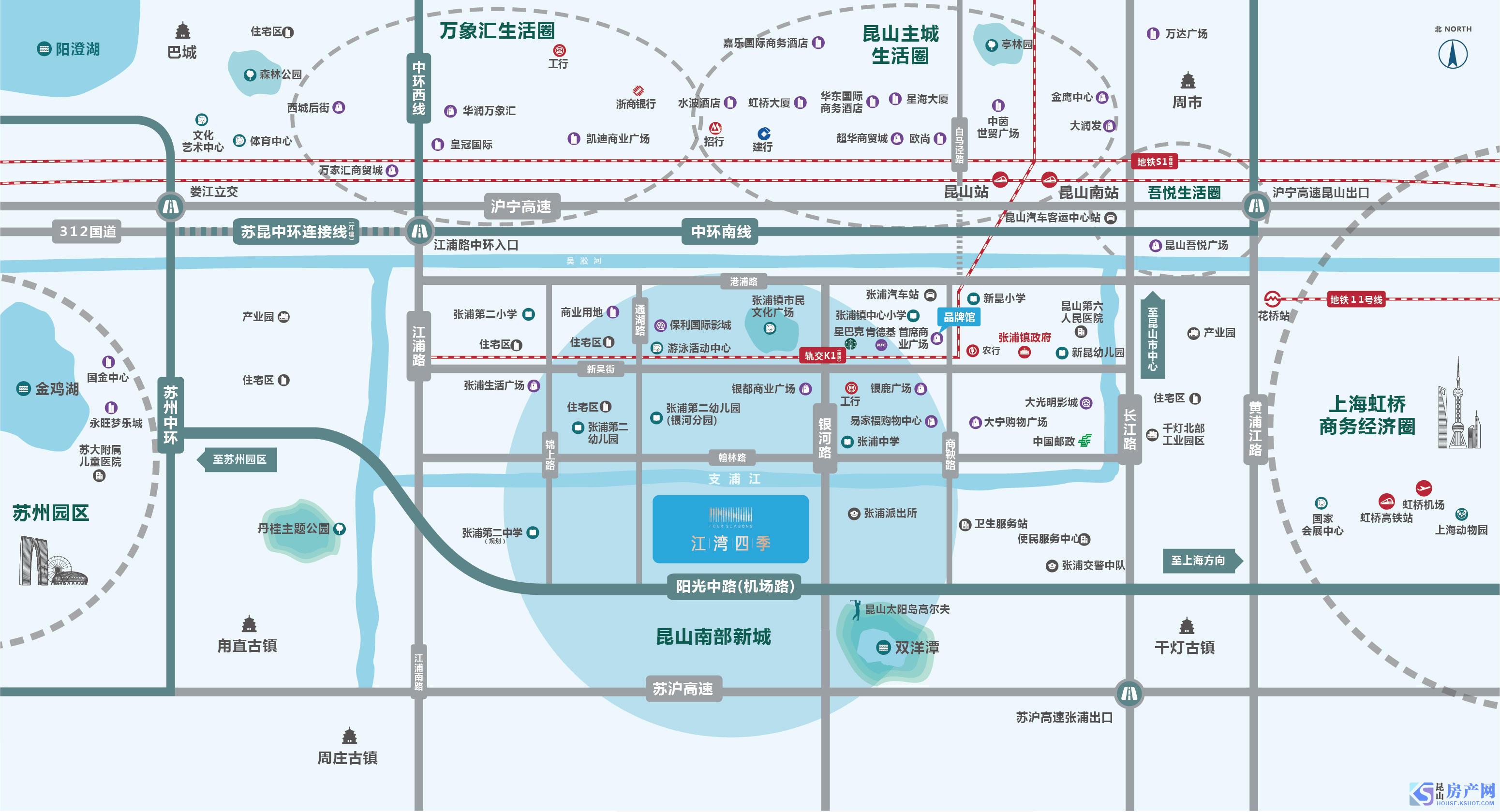 江湾四季交通图