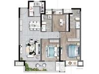 园区东 兰亭系列兰亭大境花园,低密度小高层住宅,107平稀缺明星户型