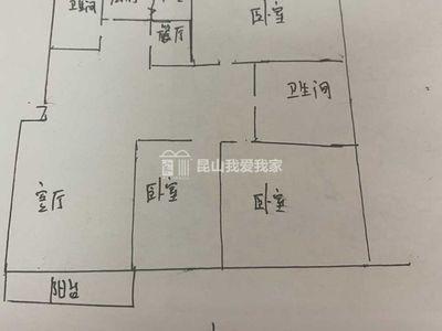 出售:市区板块康怡园3室2厅2卫140平米272万住宅