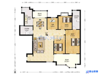 出售:绿中海一楼挑高的房子 5室2厅2卫150平米350万住宅