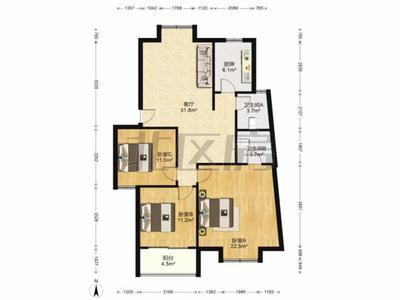 195W 买城西三房两卫 精装 中间楼层 诚售