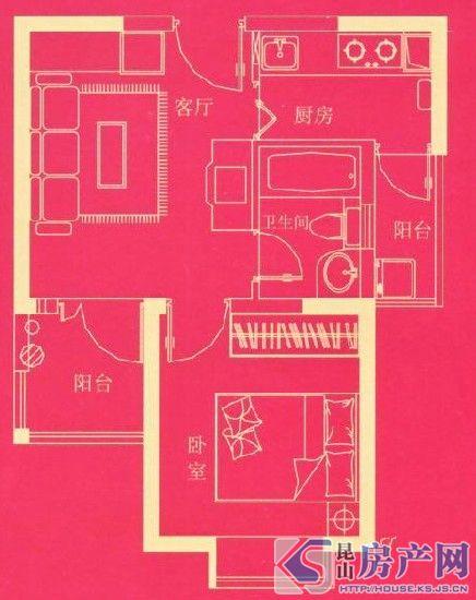 公寓户型 43.53㎡