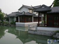 550万天伦随园中式园林别墅,税费少,临河东边套,超大花园