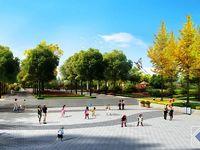 公园入口广场规划示意图