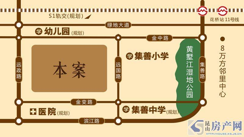 祥瑞·香逸尚城交通图