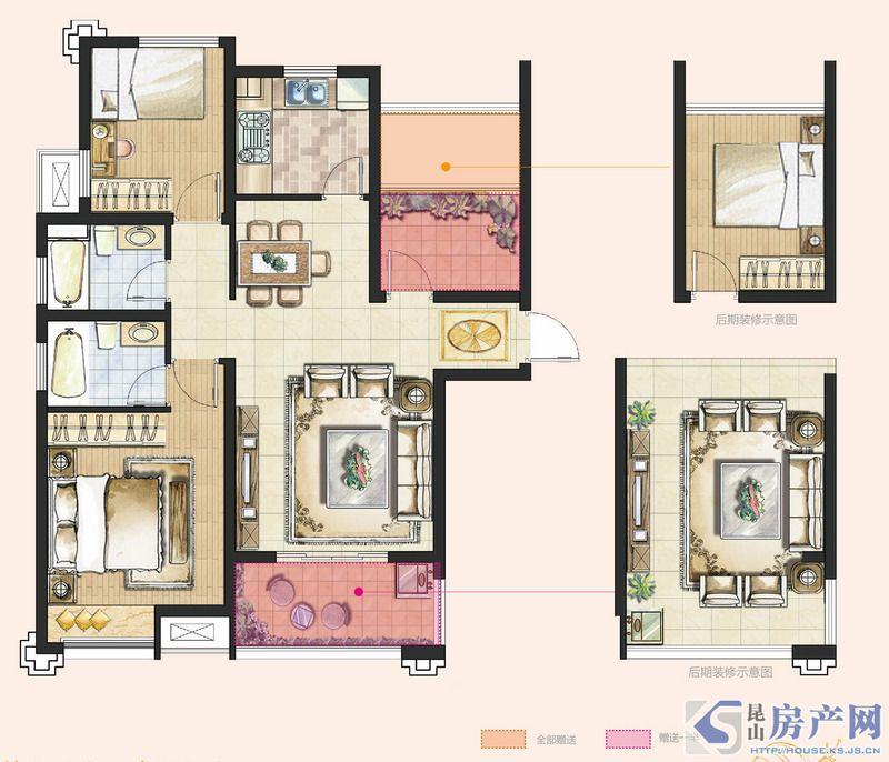 A1型3室2厅2卫约98㎡