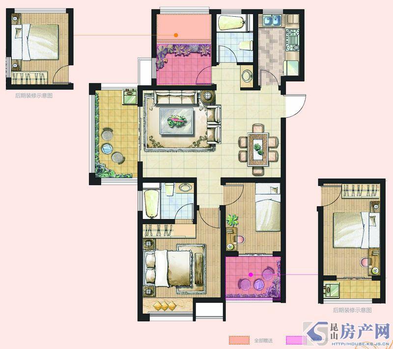 C3型3室2厅2卫约99㎡