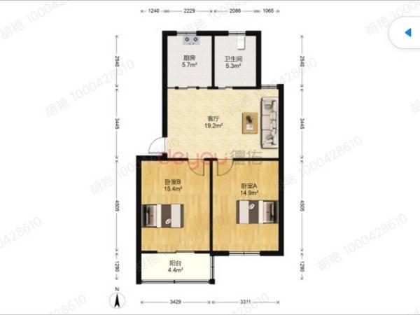 玉峰婁江可用 趙厙花園B區2室 好樓層 精裝自住房 滿兩速搶
